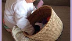 Cestos dos tesouros - atividade para bebês