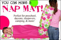 Make Your Own Chic Nap Mat- can buy the pattern but has materials list for those DIY