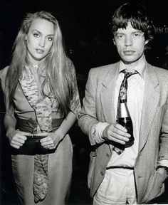 Jerry Hall & Mick Jagger, 1970's.