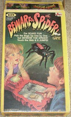 "Ideal ""Beware The Spider! Monster Games, Monster Toys, Retro Toys, Vintage Toys, Retro Games, Gi Joe, Spider Games, Pen And Paper Games, Bored Games"