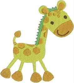 Baby Giraffe Machine Embroidery Design