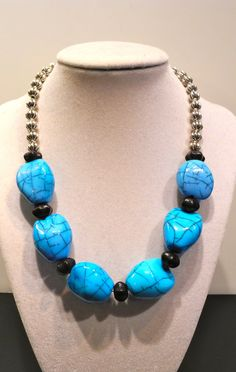 Chunky One of a kind Stone and Metal Beaded by SharonGJewelry, $27.99