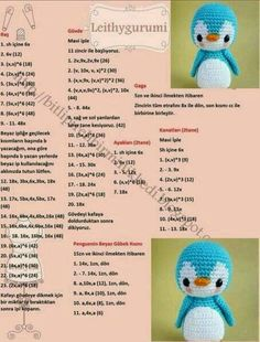 Amigurumi Little Bear Free Crochet Pattern - DiyForYou Crochet Animal Patterns, Crochet Doll Pattern, Crochet Patterns Amigurumi, Stuffed Animal Patterns, Crochet Dolls, Doll Patterns, Amigurumi Doll, Crochet Penguin, Crochet Birds