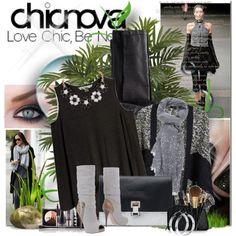 """Chicnova Otoño!"" by bilbomex on Polyvore Mega Fashion, Polyvore, Gray, Black"
