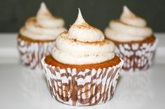 Ohhhhh yes.... this cupcake is perfect! It's a Cinnamon Eggnog & Bourbon cupcake topped with a Spiced Bourbon frosting!