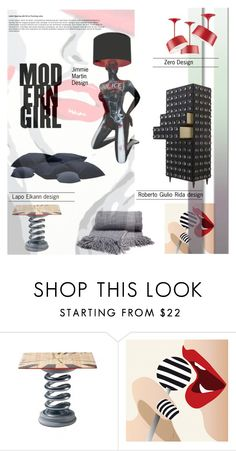 """""""Edgy Modern Decor"""" by fl4u ❤ liked on Polyvore featuring interior, interiors, interior design, home, home decor, interior decorating, Meritalia, modern, homedecor and theINSIDERbyfashionlook4u"""