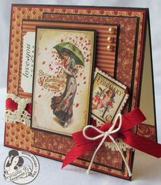 "graphic 45 ""Mother goose"" card ideas 