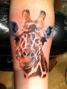 Image detail for -Giraffe Portrait tattoo