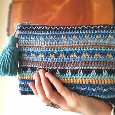Crochet Poncho, Crochet Baby, Crochet Wallet, Easy Crochet Stitches, Crochet Books, Crochet Handbags, Crochet Projects, Weaving, Tapestry