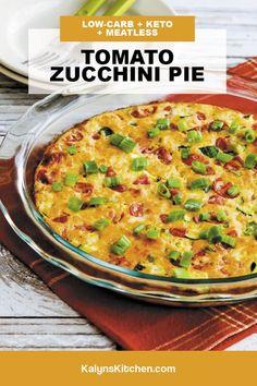 Best Zucchini Recipes, Zucchini Pie, Summer Squash Recipes, Best Low Carb Recipes, Veggie Recipes, Vegetarian Recipes, Veggie Meals, Ketogenic Recipes, Keto Recipes