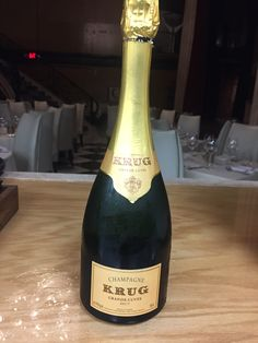 Krug Grand Cuvee, Champagne (MV) $275 - Aromas of ripe and dried fruit, marzipan, gingerbread, and citrus fruits with flavors of jellied and citrus fruit, almonds, brioche, and honey on the palate