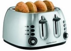 Hamilton Beach - 4 Slice Mechanical Toaster - 24504 - Plain and Simple Deals - no frills, just deals Best 4 Slice Toaster, Cheap Toaster, Stainless Steel Toaster, Hamilton Beach, Specialty Appliances, Small Kitchen Appliances, Kitchen Small, Kitchen Dining, Cookware
