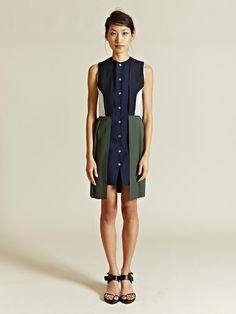 j.w. anderson contrast vest dress