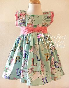 Carousel Horses, Girls Dress, Ruffles