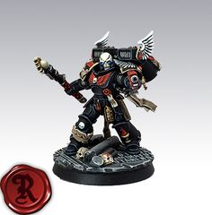 I recently decided to put together a small Blood Angels army using just the Primaris miniatures to represent 'true-scale' Marines. Warhammer Paint, Warhammer Models, Warhammer 40000, Dark Angels 40k, Warhammer 40k Blood Angels, Angels Blood, Deathwatch, Imperial Knight, Fantasy Model