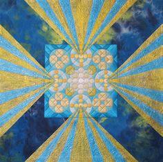 Strahlung 11 by Hilde van Schaardenburg - Textile Artist