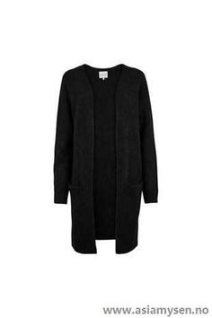 Med god start Second Female Sort Overdeler Brook Knit Cape cardigan OV63KY8037 - Kvinner Klær