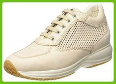 Geox D HAPPY A, Women's Low-Top Sneakers, Beige (Beigec5016), 7 UK (40 EU)