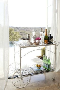 wrought iron serving cart---great party item. Need this!!