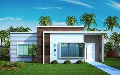 Casa com telhado embutido