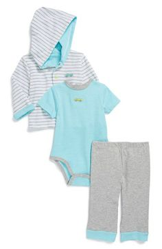 Little Me 'Auto Club' Hoodie, Bodysuit & Pants (Baby Boys) available at #Nordstrom