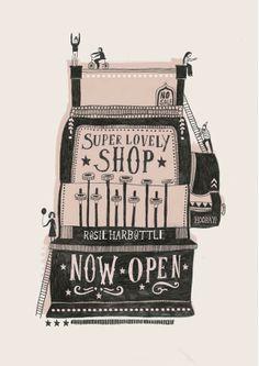 on love print studio blog today: Rosie Harbottles lovely new shop...