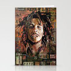Bob Marley 2 Stationery Cards by Ray Stephenson - $12.00