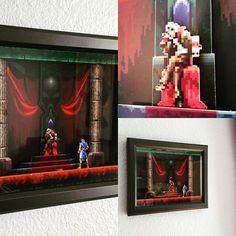 Castlevania Symphony of the Night Dracula's Keep Shadowbox