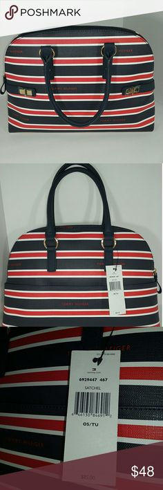 """Tommy Hilfiger purse/satchel NWT approximate measurements  11"""" tall not including the straps  14"""" wide one external pocket Tommy Hilfiger Bags Satchels"""