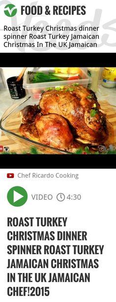 Roast Turkey Christmas dinner spinner Roast Turkey Jamaican Christmas In The UK Jamaican Chef!2015 | http://veeds.com/i/VQnFrY-GOgwClGDa/jummy/