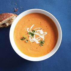 As the fall weather starts rolling in, why not curl up with a good book and a great creamy bowl of white bean and tomato soup. Try it today.