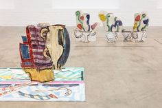Installation view of Betty Woodman: Theatre of the Domestic. Photo: Mark Blowerr https://www.ica.org.uk/whats-on/betty-woodman