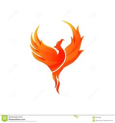 Illustration about Phoenix Vector Template With Background. Phönix Tattoo, Ouroboros Tattoo, Fire Tattoo, Flame Tattoos, Sun Tattoos, Body Art Tattoos, Tatoos, Phoenix Drawing, Phoenix Art
