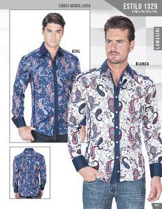 1329 Camisa de Caballero Lamasini Manga Larga