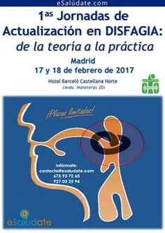 El portal eSaludate imparte sus I Jornadas de Actualización en Disfagia: de la teoría a la práctica, tendrán lugar el 17 y 18 de febrero