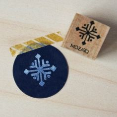 Square Snowflake Rubber Stamp