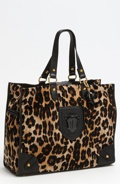 NEEEEEEDDD!! Just what Ive been looking for in a new diaper bad!!! Juicy Couture 'Nicola - Wild Things' Tote available at #Nordstrom