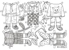 FELIX to Colour from Karen's Paper Dolls 3 of 3