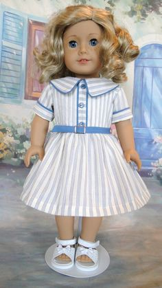 1950's School day dress for American Girl by dancingwithneedles. $38.00