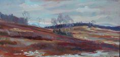 Bronze Meadow. Oil painting by Peter Barnett.