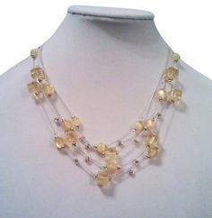 Mixit Mixit Sunshine Lemon Drops Crystal Necklace