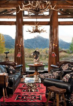 Wyoming Great Room....with a beautiful touch of Pendleton.