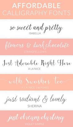 Modern & Cheap Calligraphy Fonts | angiemakes.com