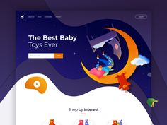 Toys Landing page store toy store toys dreams homepage color illustration landing ui