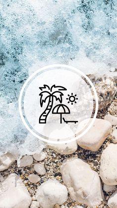 Pin on Story Highlights Instagram Blog, Instagram Beach, Instagram Design, Instagram Story Ideas, Instagram Accounts, Beach Highlights, Story Highlights, Organizar Instagram, Beach Icon