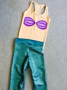 Mermaid Running Costume by ThisPrincessRuns on Etsy https://www.etsy.com/listing/160870405/mermaid-running-costume