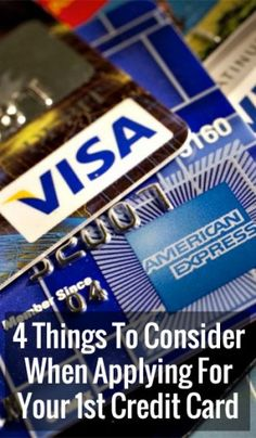 4 Things To Consider When Applying For Your 1stCredit Card