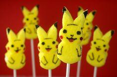 Pikachu Peeps , originally uploaded by Bakerella . It's a Pokemon Easter. Pokemon Party, Pokemon Birthday, 8th Birthday, Birthday Ideas, Birthday Parties, Pokemon Cupcakes, Pokemon Halloween, Birthday Cakes, Pikachu Cake