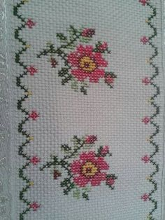 This post was discovered by Tu Cross Stitching, Cross Stitch Embroidery, Cross Stitch Patterns, Small Cross Stitch, Cross Stitch Flowers, Diy Finger Knitting, Hand Embroidery Design Patterns, Palestinian Embroidery, Beaded Cross
