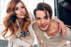 Most popular tags for this image include: shadowhunters, katherine mcnamara, dominic sherwood, clace and jace